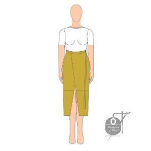 patron falda mujer facil